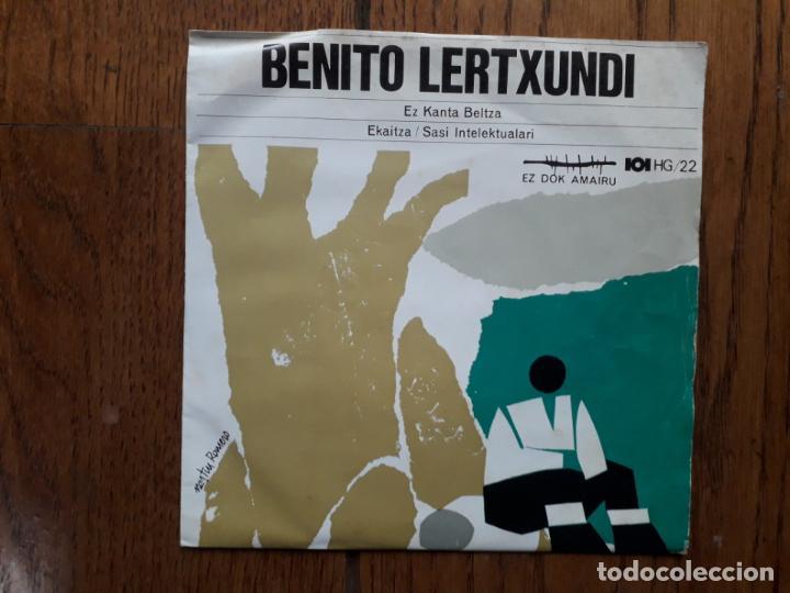 BENITO LERTXUNDI - EZ KANTA BELTZA + EKAITZA + SASI INTELEKTUALARI - EDICIÓN GOIZTIRI (Música - Discos de Vinilo - EPs - Country y Folk)