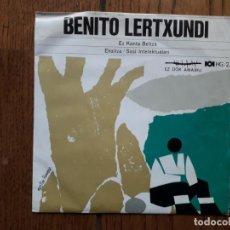 Discos de vinilo: BENITO LERTXUNDI - EZ KANTA BELTZA + EKAITZA + SASI INTELEKTUALARI - EDICIÓN GOIZTIRI. Lote 163377482