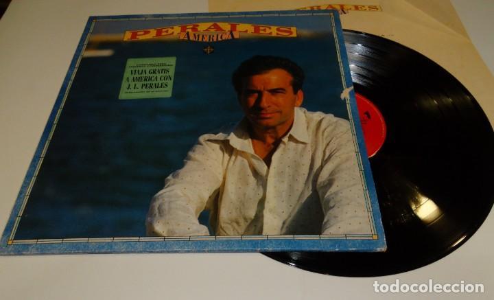 PERALES AMÉRICA LP 1991-ENCARTE CON CANCIONES (Música - Discos - LP Vinilo - Grupos Españoles de los 90 a la actualidad)