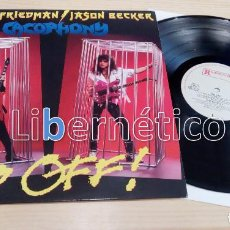 Discos de vinilo: CACOPHONY – GO OFF! – ROADRUNNER RECORDS RR 9499 1 – HOLANDA 1988 – NM-EX. Lote 163399026