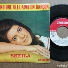 Discos de vinilo: SHEILA - QUAND UNE FILLE AIME UN GARÇON, DELILAH. Lote 163400098