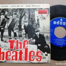 Discos de vinilo: THE BEATLES : BOYS; CHAINS; LOVE ME DO; BABY IT'S YOU. 1964. . Lote 163404018