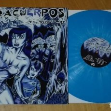 Discos de vinilo: ULTRACUERPOS - THE RIGHT WAY (LP 2003, VINILO AZUL Y BLANCO, GATEFOLD, EL BEASTO EB·011) NUEVO. Lote 190645917