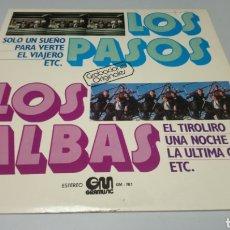 Discos de vinilo: LOS PASOS / LOS ALBAS. LP VINILO BUEN ESTADO. Lote 163446058