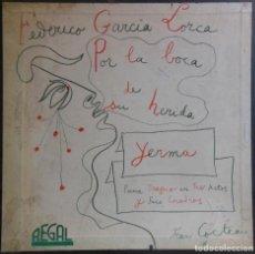 Discos de vinilo: POR LA BOCA DE SU HERIDA, YERMA. FEDERICO GARCÍA LORCA. 2 LP'S + TEXTO, EN CAJA. Lote 163449674