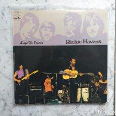 Discos de vinilo: RICHIE HAVENS - SINGS THE BEATLES, LP. VINILO Y CARPETA EN BUEN ESTADO.. Lote 163449746