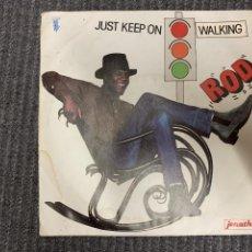 Discos de vinilo: ROD ?– JUST KEEP ON WALKING SELLO: JONATHAN ?– ATO27012 FORMATO: VINYL, 7 , 45 RPM, SINGLE. Lote 163397350