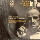 Discos de vinilo: NINO ROTA – BANDE ORIGINALE DU FILM LE PARRAIN - GODFATHET - SINGLE. Lote 163475990
