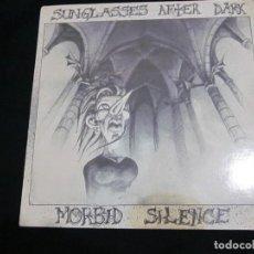 Discos de vinilo: SUNGLASSES AFTER DARK - MORBID SILENCE - MAXI - EDICION INGLESA DEL AÑO 1984.. Lote 163478998