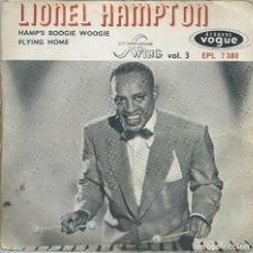 Discos de vinilo: LIONEL HAMPTON, HAMP'S BOOGIE WOOGIE. (VOGUE). -SINGLE FRANCES-. Lote 163480522