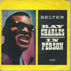 Discos de vinilo: RAY CHARLES, IN PERSON. (BELTER,1960). Lote 163482282