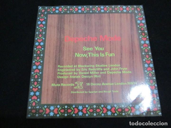 Discos de vinilo: DEPECHE MODE - SEE YOU - SG - EDICION INGLESA DEL AÑO 1982 - Foto 2 - 163486126