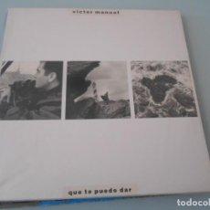 Discos de vinilo: LP 1988 - VICTOR MANUEL - QUE TE PUEDO DAR. Lote 163486494