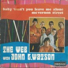 Discos de vinilo: THE WEB WITH JOHNN L.WATSON, BABY WON'T YOU LEAVE... (DERAM,1969). Lote 163487478