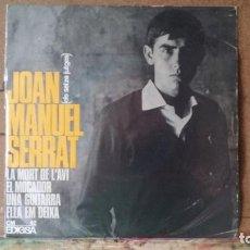 Discos de vinilo: ** JOAN MANUEL SERRAT - UNA GUITARRA / ELLA EM DEIXA + 2 - EP 1965 - LEER DESCRIPCIÓN. Lote 163488358
