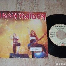 Discos de vinilo: IRON MAIDEN- CORRIENDO EN LIBERTAD /SANTUARIO /EMI ?– 006 20 0818 7-ESPAÑA-PROMOCIONAL!!. Lote 176118260