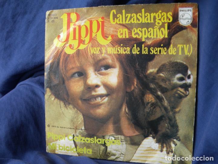PIPPI CALZASLARGAS EN ESPAÑOL VOZ Y MUSICA DE LA SERIE TV (Música - Discos - Singles Vinilo - Música Infantil)