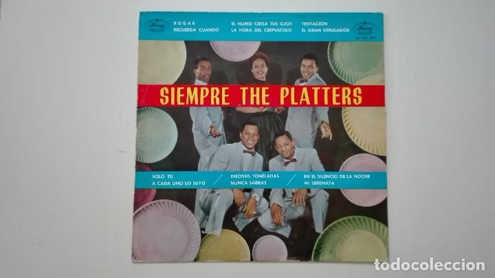 SIEMPRE THE PLATTERS LP MERCURY RECORDS 1962 (Música - Discos - LP Vinilo - Funk, Soul y Black Music)