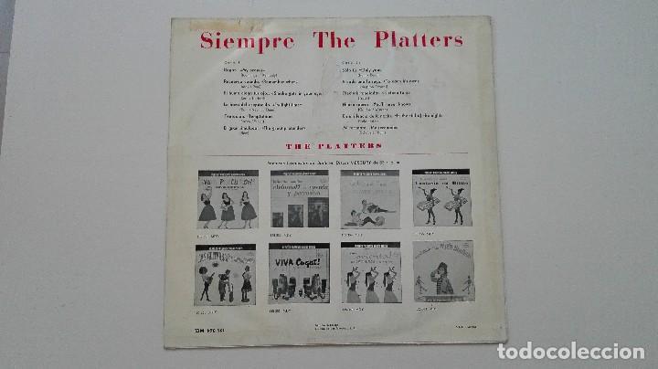 Discos de vinilo: Siempre The Platters LP Mercury Records 1962 - Foto 2 - 163506474
