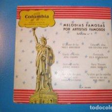 Discos de vinilo: MELODIAS FAMOSAS VOL.1 10PULG 25 CMS 195_ EDICIÓN ESPAÑOLA MILLS BROTHERS CROSBY DORSEY CUATRO ASES. Lote 163507122