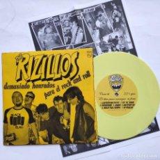 Disques de vinyle: THE RIZILLOS - EP SPAIN PS - COMO NUEVO - DEMASIADO HONRADOS PARA EL ROCK AND ROLL. Lote 163509130