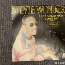 Discos de vinilo: STEVIE WONDER ?– I JUST CALLED TO SAY I LOVE YOU SELLO: MOTOWN ?– ZB 61451 FORMATO: VINYL, 7 . Lote 163522278