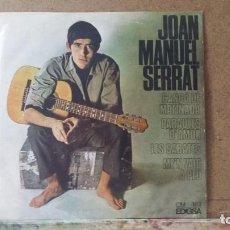 Discos de vinilo: ** JOAN MANUEL SERRAT - CANÇÓ DE MATINADA / PARAULES D'AMOR + 2 - EP 1966 - LEER DESCRIPCIÓN. Lote 163537358