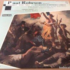 """Discos de vinilo: PAUL ROBESON. 10 CHANTS D'HOMMES LIBRES. PHILIPS. 10"""".. Lote 163542918"""