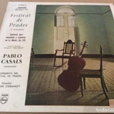 Discos de vinilo: FESTIVAL DE PRADES. R. SCHUMANN. PABLO CASALS. PHILIPS, 10 PULGADAS.. Lote 163543410