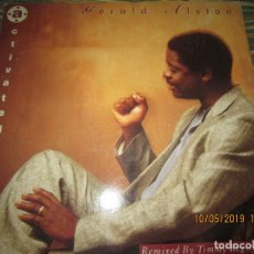 Discos de vinilo: GERALD ALSTON - ACTIVATED MAXI 45 R.P.M. - ORIGINAL INGLES - MOTOWN RECORDS 1989 -. Lote 163551450