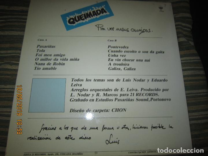 Discos de vinilo: QUEIMADA - PRA VOS MEUS AMIGOS LP - ORIGINAL ESPAÑOL - 21 RECORDS 1985 - MUY NUEVO (5) - Foto 2 - 163552662