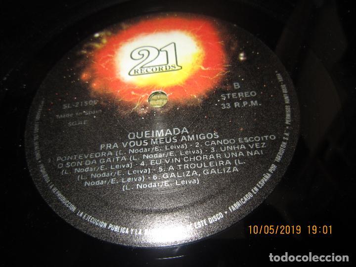 Discos de vinilo: QUEIMADA - PRA VOS MEUS AMIGOS LP - ORIGINAL ESPAÑOL - 21 RECORDS 1985 - MUY NUEVO (5) - Foto 13 - 163552662