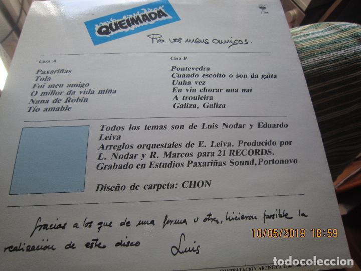 Discos de vinilo: QUEIMADA - PRA VOS MEUS AMIGOS LP - ORIGINAL ESPAÑOL - 21 RECORDS 1985 - MUY NUEVO (5) - Foto 15 - 163552662