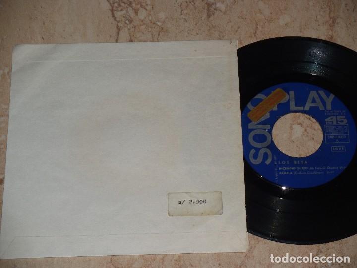 LOS BETA EP SONOPLAY 1967 INCENDIO EN RIO/ PAMELA/ LA FAMILIA/ GINA / RARO PROMOCIONAL!!! (Música - Discos de Vinilo - EPs - Grupos Españoles 50 y 60)
