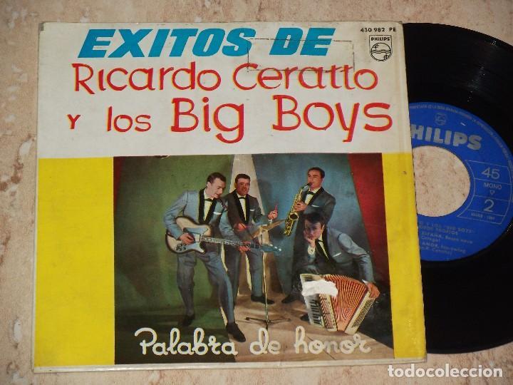 RICARDO CERATTO Y LOS BIG BOYS PALABRA DE HONOR + 3 PHILIPS 1964 # TWIST BOSSA (Música - Discos de Vinilo - EPs - Grupos Españoles 50 y 60)