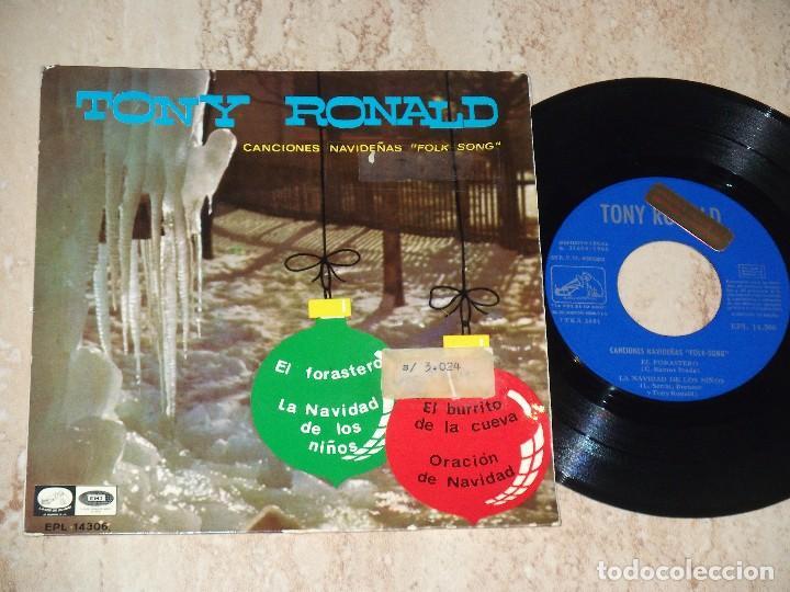 TONY RONALD EL FORASTERO/EL BURRITO DE LA CUEVA +2 EP 1966 CANCIONES NAVIDEÑAS FOLK SONGS-PROMOCIONA (Música - Discos de Vinilo - EPs - Grupos Españoles 50 y 60)