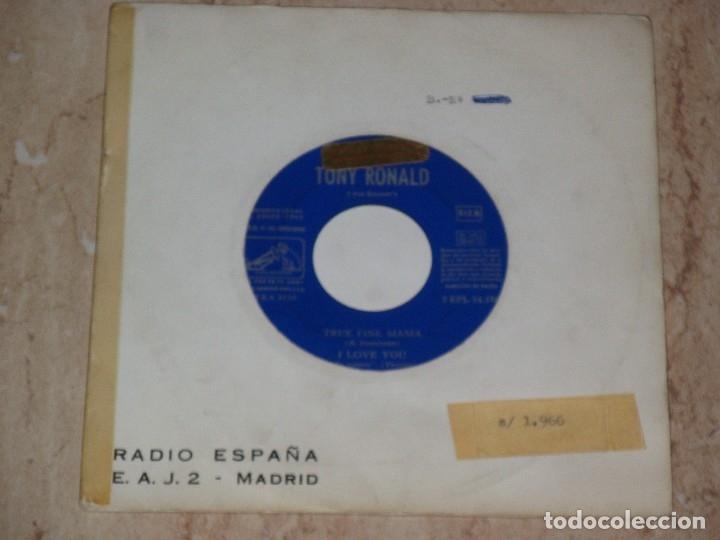 TONY RONALD Y SUS KRONERS - TRUE FINE MAMA + 3 - EP SPAIN 1965-MUY RARO PROMOCIONAL (Música - Discos de Vinilo - EPs - Grupos Españoles 50 y 60)