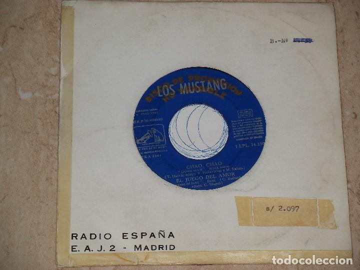 LOS MUSTANG EP EMI1965 CHAO CHAO/ NADIE RESPONDIO (NO REPLY-BEATLES)/ DO WAH DIDDY DIDDY-PROMOCIONAL (Música - Discos de Vinilo - EPs - Grupos Españoles 50 y 60)