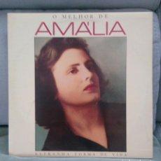 Discos de vinilo: O MELHOR DE AMALIA. ESTRANHA FORMA DE VIDA. Lote 163592006