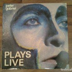 Discos de vinilo: PETER GABRIEL - PLAYS LIVE- DOBLE LP CHARISMA 1983 ED. ESPAÑOLA 812446 EN MUY BUENAS CONDICIONES.. Lote 163598546