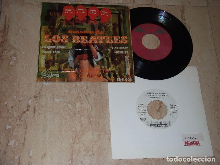 MUSICA DE LOS BEATLES PARA CUARTETO DE CÁMARA DIRIGIDO POR ALFONSO SANTISTEBAN: MICHELLE +3+ REGALO (Música - Discos de Vinilo - EPs - Grupos Españoles 50 y 60)