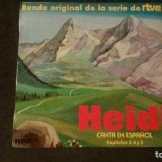 Discos de vinilo: LP-HEIDI CANTA EN ESPAÑOL-CAPÍTULOS 3,4 Y 5-BANDA ORIGINAL DE LA SERIE DE RTVE. Lote 163614078
