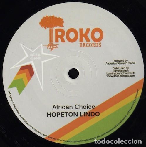 HOPETON LINDO - AFRICAN CHOICE / FALSE SENTENCE - 12'' [IROKO RECORDS, 2012] (Música - Discos - Singles Vinilo - Reggae - Ska)