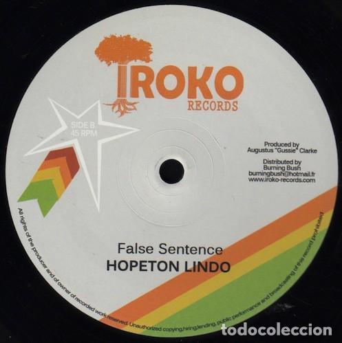 Discos de vinilo: Hopeton Lindo - African Choice / False Sentence - 12 [Iroko Records, 2012] - Foto 2 - 163618154