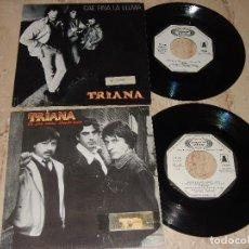 Discos de vinilo: TRIANA LOTE DE DOS SINGLES-PROMOCIONALES-LABEL BLANCO-. Lote 163651358