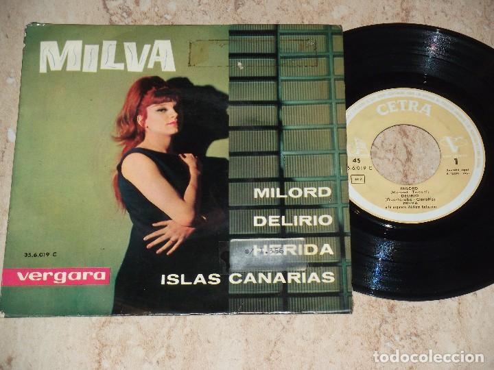 MILVA EP MILORD + 3 ESPAÑA 1963 (Música - Discos de Vinilo - EPs - Grupos Españoles 50 y 60)