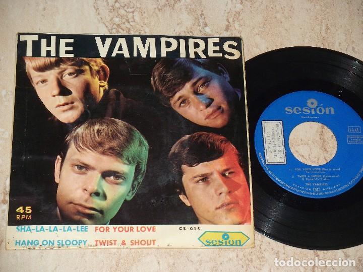 THE VAMPIRES EP SESION 1966 SHA LA LA LA LEE/ HANG ON SLOOPY +2 BEAT GARAGE MOD-PROMOCIONAL (Música - Discos de Vinilo - EPs - Grupos Españoles 50 y 60)