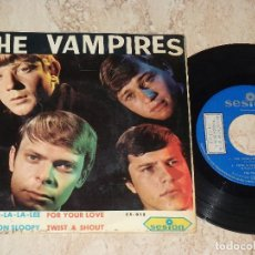 Discos de vinilo: THE VAMPIRES EP SESION 1966 SHA LA LA LA LEE/ HANG ON SLOOPY +2 BEAT GARAGE MOD-PROMOCIONAL. Lote 163680066