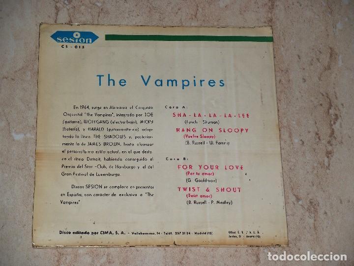 Discos de vinilo: THE VAMPIRES EP SESION 1966 SHA LA LA LA LEE/ HANG ON SLOOPY +2 BEAT GARAGE MOD-PROMOCIONAL - Foto 2 - 163680066
