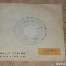 Discos de vinilo: LOS SECRETOS SINGLE NO ME IMAGINO/NO ME IMAGINO (INSTRUM) PRIMER TESST SUPER RARO PARA RADIO ESPAÑA. Lote 163717314
